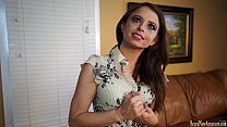 Amateur lady masturbating on casting couch thumb