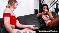 Young Chocolate Chick Jenna Foxx Tongues Pale Kat Monroe!