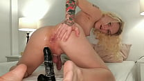 Stretching My Tight Ass With A Huge Black Dildo