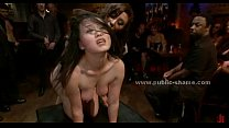 Tied sex slave with large breasts extreme bonda...