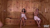 Sensual Pussy Licking In The Sauna With Nicole