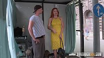 inchest porn & Amazing Eva Berger Strips off her Clothes for Cash thumbnail