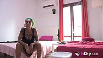 Punk girl loves fucking her two roommates at th...