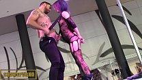 Male stripper and hot blonde pornstar