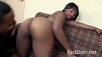 Cute Ebony Nikki Ford's Boyfriend Eats Pre-Toilet Farts