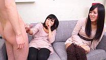 Image: Subtitled CFNM Japanese friend watches surprise blowjob