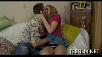 Horny guy licks hot love button