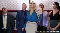 Brazzers - Big Tits at Work - Bridgette B Xander Corvus - Stuck In The Elevator porn thumbnail