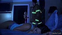 Firefighter fulfills brunettes fantasy after the rescue