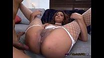 Sexy Babe Nicole Rey Enjoys Big Chocolate Dick
