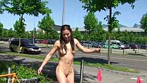 July - Cute German Babe Naked In Public Streets preview image