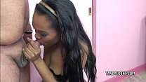 Black MILF Kelly Stylz is blowing a guy she just met