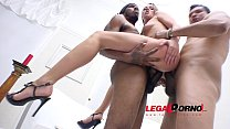Karolina Star interracial double anal (DAP) with 3 guys RS153