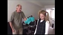 Little Daugter punished by her old horny dad www.punish-xxx.com