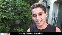 LatinLeche - Cute Latin Boy With Green eyes Riding Camera Guy