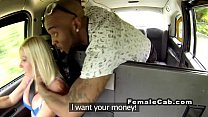 Black guy rough fucking busty cab driver in public