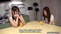 Japanese sisters, Seshiru Kusrosaki and Saya Aika got fucked, uncensored Vorschaubild