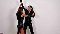 19125 Superheroine Wrestling Agent Fight - Starring Alyssa Reece and Talia Mint preview