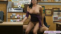 18200 Hot ass brunette babe railed by pawn man in his pawnshop preview