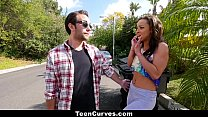 Curvy Caramel Skinned Hottie Fucked By A Blind Man ◦ TeenCurves thumbnail