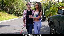 13290 TeenCurves - Curvy Caramel Skinned Hottie Fucked By A Blind Man preview