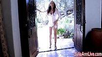 Sexy  Milf Julia Ann Comes Over & Strips Down! Thumbnail