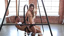 HD - FantasyHD Alexis Adams in black lingerie fucked on a sex swing Vorschaubild