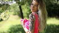 Czech Blond Girl Daniela Showing Her Naked Body