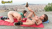 MAMACITAZ - Hot Latinas Indulge In REAL Lesbian Sex In Public (Betty Foxxx & Yuno Love)