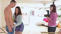 Cfnm femdom anal fun with Sarah Shevon