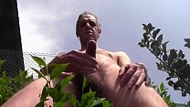 - SENSATIONAL DANGER - HUGE CUMSHOT AND HUGE PISS OUTDOOR IN PUBLIC GARDEN DURING THE PASSAGE OF PEOPLE, CARS, MOTORCYCLES AND TRAINS A FEW METERS!!! MATURE AMATEUR SOLO MALE HAIRY NAKED HARD COCK - THANKS FOR WATCHING, HELLO!