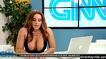 Tv anchor orgasm on air