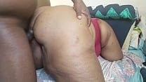 12424 WATCH THIS EBONY MILF AS SHE THROWS HER BIG ASS ALL OVER HIS BLACK BBC preview