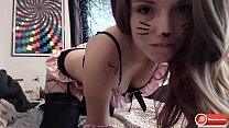 Catgirl touching herself - 36cams.com
