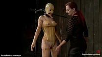Mistress and master dominate slaves