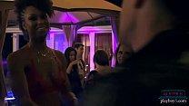 Image: Black cougar fucked after hosting a catwalk lingerie show