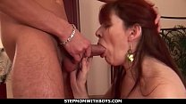 Stepmom With Boys Redhead Stepmom Enojoying Stepson's Cock