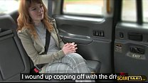 Cutie Euro girl gets pussy blasted inside the taxi preview image