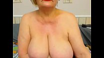 Granny shows off her huge tits Preview
