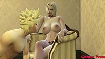 Familia Pervertida Cap 5 tsunade entra el cuarto de naruto para seducirlo el se despierta termina follandose mejor que como a su esposa hinata