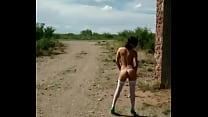 Public nudity with Gatita
