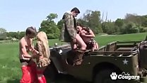 Big Titty Military Babes Alexis Moore & Carmel Moore Bang A Couple Lucky Soldiers