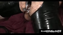 Female domination as kinky mistress bonks slave's mouth hard thumbnail