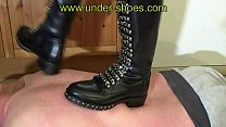 UNDER-SHOE Miss Claire savage boots , worship, trample and hands trample