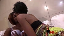 Real hot African lesbians and a dildo Thumbnail