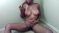 9143 Sexy Ebony Chick Deepthroats Dildo Vomits Pukes preview