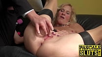 Horny british mature Molly masturbates with hitachi wand pornhub video