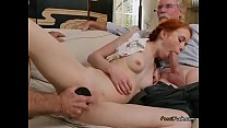 Freaky Teen Dolly Little Gets Used By Old Guys