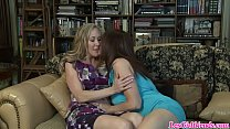 Lesbian MILF Brandi Love and Bibette Blanche playing preview image
