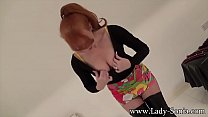 Red Swinging Sixties In Pantyhose thumb